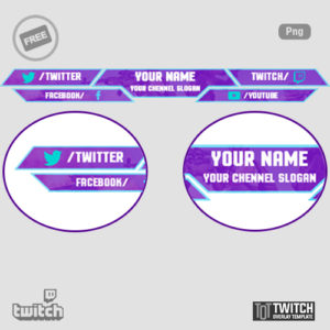 Free Twitch overlay Template