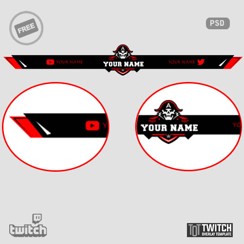 Twitch Overlay Template - Twitch Overlays, Alerts, and Stream Designs