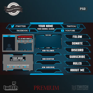 Free Twitch Overlay Template | Twitch Overlay Template Twitch Overlays Alerts And